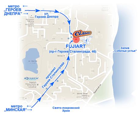 Карта проезда к цифровому фотоцентру FujiFilm